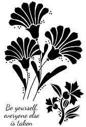 Woodware Craft - Clear Stamp - Fan Flowers