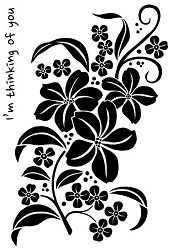 Woodware Craft - Clear Stamp - Magnolia Spray