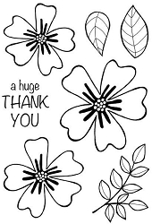 Woodware Craft - Clear Stamp - Bold Blooms Amanda