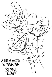 Woodware Craft - Clear Stamp - Bold Blooms Ginny