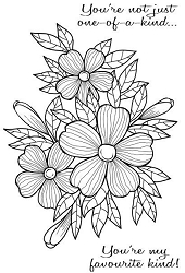 Woodware Craft - Clear Stamp - Bold Blooms Fiona