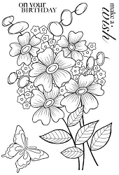 Woodware Craft - Clear Stamp - Bold Blooms Beatrice