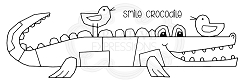 Woodware Craft - Clear Stamp - Smile Crocodile
