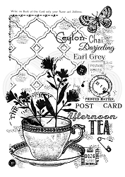 Woodware Craft - Clear Stamp - Afternoon Tea