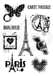 Woodware Craft - Clear Stamp - Paris Elements