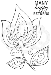 Woodware Craft - Clear Stamp - Bold Blooms Ursula