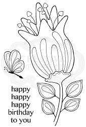 Woodware Craft - Clear Stamp - Bold Blooms Quincy