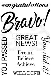 Woodware Craft - Clear Stamp - Bravo