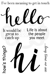 Woodware Craft - Clear Stamp - Hello