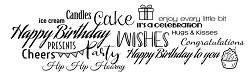 Woodware Craft - Clear Stamp - All About Birthdays
