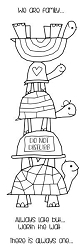 Woodware Craft - Clear Stamp - Tortoise Family