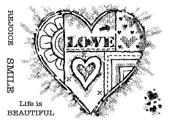Woodware Craft - Clear Stamp - Bold Heart