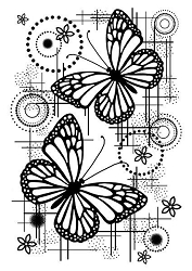 Woodware Craft - Clear Stamp - Butterfly Dream