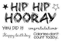 Woodware Craft - Clear Stamp - Hip Hip Hooray