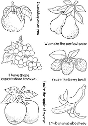 Woodware Craft - Clear Stamp - Fruity Likes