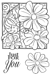 Woodware Craft - Clear Stamp - Petals and Twirls