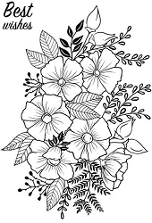Woodware Craft - Clear Stamp - Flower Garden