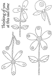 Woodware Craft - Clear Stamp - Floral Whimsies