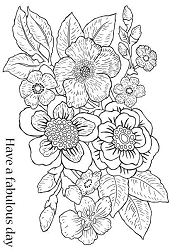 Woodware Craft - Clear Stamp - Bold Blooms Isabella