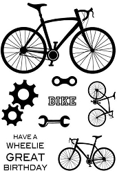 Woodware Craft - Clear Stamp - On Your Bike