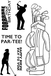 Woodware Craft - Clear Stamp - Ready to Tee Off