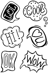 Woodware Craft - Clear Stamp - Say It Bubbles