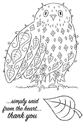Woodware Craft - Clear Stamp - Leafy Owl