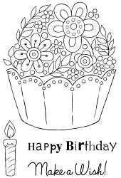 Woodware Craft - Clear Stamp - Floral Cupcake
