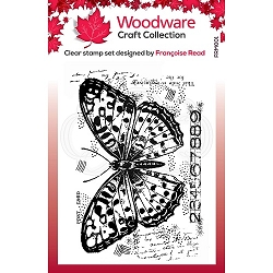 Woodware Craft - Clear Stamp - Butterfly