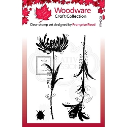 Woodware Craft - Clear Stamp - Mini Flower Silhouettes