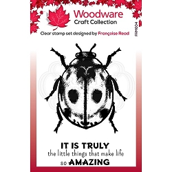 Woodware Craft - Clear Stamp - Little Ladybird