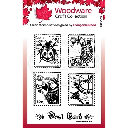Woodware Craft - Clear Stamp - Mini Postage