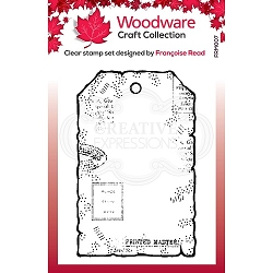 Woodware Craft - Clear Stamp - Tiny Tag