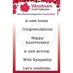 Woodware Craft - Clear Stamp - Mini Wordings