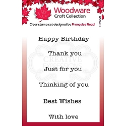 Woodware Craft - Clear Stamp - Mini Greetings