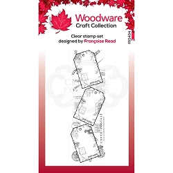 Woodware Craft - Clear Stamp - Three Tags