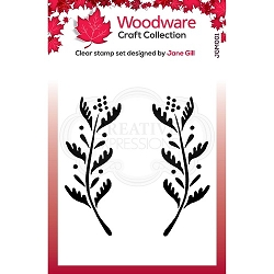 Woodware Craft - Clear Stamp - Ellie Leaf