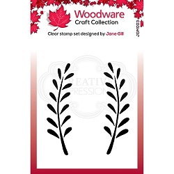 Woodware Craft - Clear Stamp - Anya Leaf