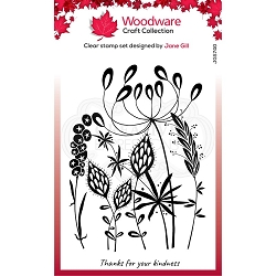 Woodware Craft - Clear Stamp - Wild Garden