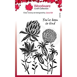 Woodware Craft - Clear Stamp - Autumn Flowers