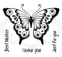 Woodware Craft - Clear Stamp - Pretty Flutterby