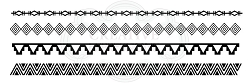 Woodware Craft - Clear Stamp - Tribal Borders