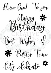 Woodware Craft - Clear Stamp - Scripted Wishes