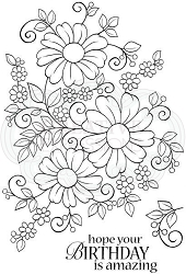 Woodware Craft - Clear Stamp - Bold Blooms - Caroline