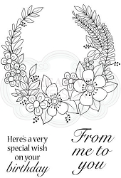 Woodware Craft - Clear Stamp - Flower Ring