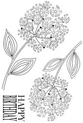 Woodware Craft - Clear Stamp - Bold Blooms - Nancy