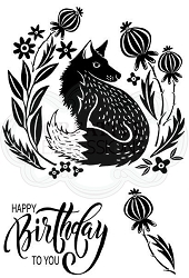 Woodware Craft - Clear Stamp - Mr Foxy