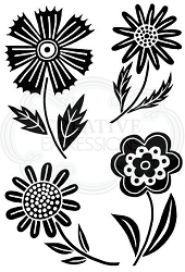 Woodware Craft - Clear Stamp - Mini Blooms