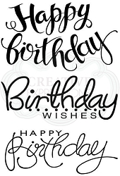 Woodware Craft - Clear Stamp - Big Birthday Words