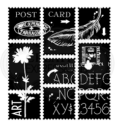 Woodware Craft - Clear Stamp - Postage Sheets